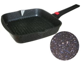 Сковорода-гриль 24см квадратная с покрытием Гранит star со съемной ручкой