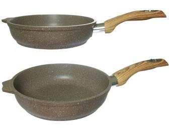 Сковорода 20см с покрытием Гранит brown
