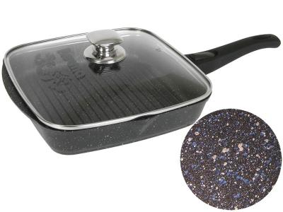 Сковорода гриль 26*26 Гранит star со съемной ручкой и крышкой Мечта