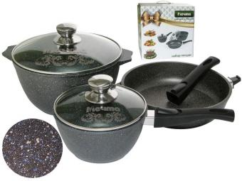 Набор литой алюминиевой посуды с покрытием Гранит star 20399