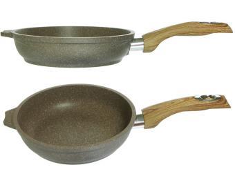 Сковорода 18см с покрытием Гранит brown