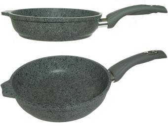 Сковорода 22см АП Premium grey
