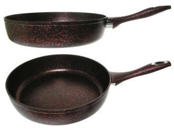 Сковорода 28см индукция Классика Катюша черно-красный гранит