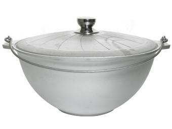 Казан походный 10л литой алюминиевый без покрытия с крышкой