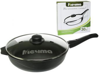 Сковорода 30см с покрытие Престиж со съемной ручкой и стеклянной крышкой