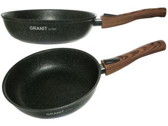Сковорода 24см со съемной ручкой Granit ultra original