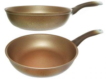 Сковорода 22см с покрытием Trendy style gold