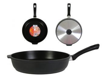 Сковорода 28см литая с утолщенным дном Кукмор