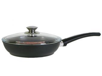 Сковорода 22см литая с антипригарным покрытием Kuk