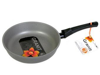 Сковорода 22см съемная ручка с покрытием Гранит