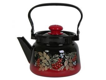 Чайник 2,3л Рябинка красно-черный