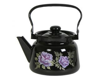 Чайник 2,3л с рисунком черный