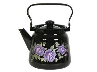 Чайник 3,5л с рисунком Черный 20999