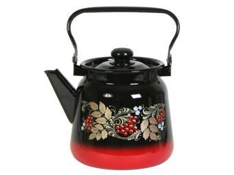 Чайник 3,5л с рисунком Красно-черный 20998