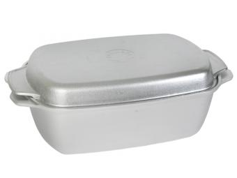 Гусятница алюминиевая без покрытия 5,5л