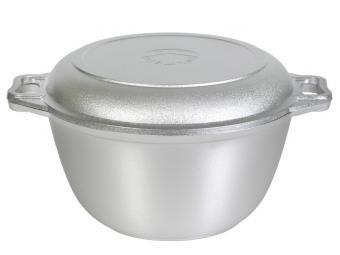 Казан с крышкой-сковородой 3л без покрытия Кукмор
