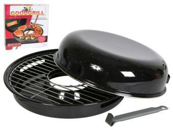 Сковорода гриль-газ D-518 эмалированная