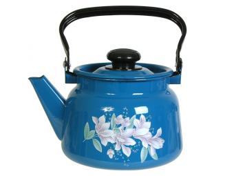 Чайник 2,3л с рисунком васильковый