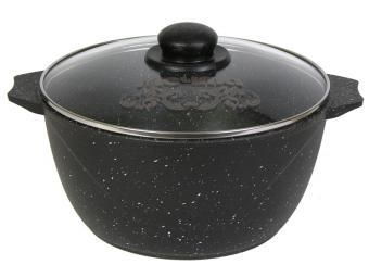 Кастрюля 4л АП Гранит black