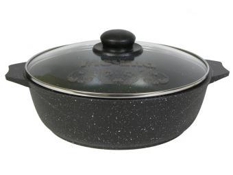 Жаровня 3л Гранит black