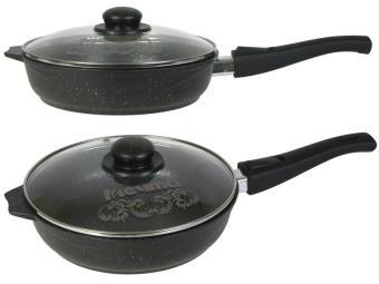 Сковорода 24см съемная ручка Гранит Лайт