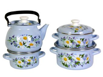 Набор кастрюль Полесье с чайником