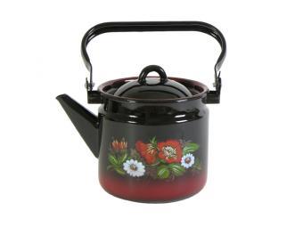 Чайник 2л яркоокрашенный с рисунком