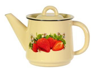Чайник 1л эмалированный с рисунком