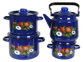 Набор кастрюль ''Русское поле'' с чайником