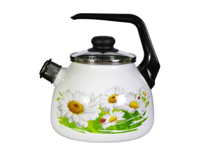 Чайник 3л со свистком Ромашки Стальэмаль (Череповец)