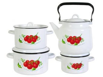 Набор кастрюль Томаты с чайником