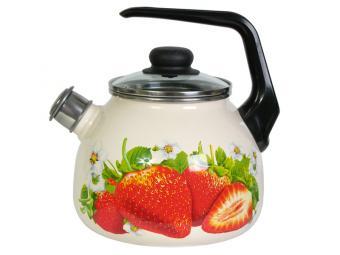 Чайник 3л со свистком Клубника садовая