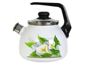 Чайник 3л со свистком Каллы