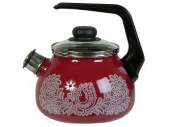 Чайник 2л со свистком Вологодское кружево