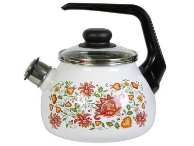 Чайник 2л со свистком Вышивка Стальэмаль (Череповец)