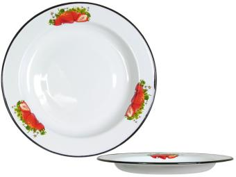 Блюдо эмаль 2л 36см с рисунком