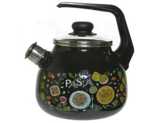 Чайник 3л со свистком Pasta черный
