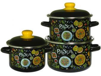 Набор кастрюль ''Pasta'' черный №02