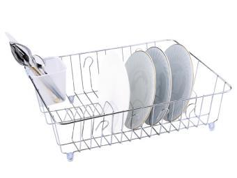 Сушилка для посуды хром без поддона 44*35*13см