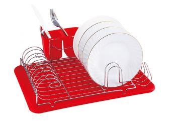Сушилка для посуды хром 43*32*11см