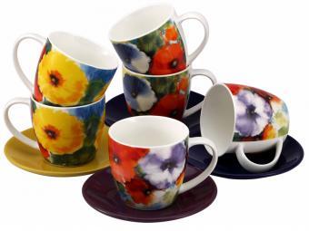 Чайный набор 12 предметов Акварель
