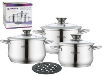 Набор посуды Bohmann 4 пр (2,1Л2,9Л3,9Л)