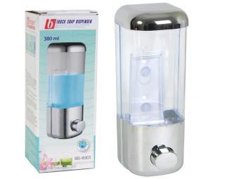 Дозатор для жидкого мыла 380мл пластик 8*8,5*21,5с