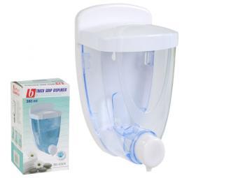 Дозатор для жидкого мыла 380мл треугольный белый