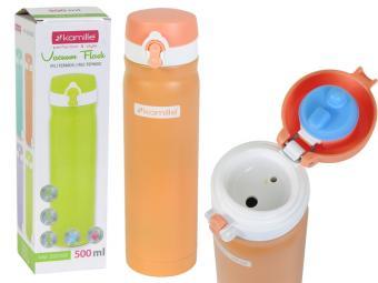 Термос-бутылка 500мл нерж сталь цвета в ассортимен