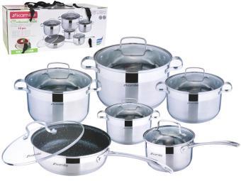 Набор посуды нерж 6пр со сковородой