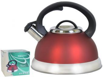 Чайник 3л для индукционной плиты красный 280278