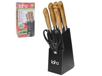 Набор ножей 7пр (Подставка, 5 ножей, ножницы)