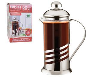 Кофе-пресс 800 мл стальной корпус (цвет-сталь)