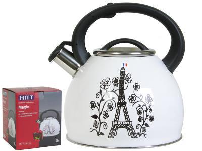 Чайник 3л с терморисунком Париж Hitt Magic